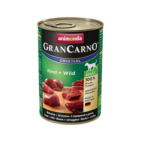 Animonda GranCarno Original Adult Hundefutter - Dosen - Rind & Wild - 6 x 400 g