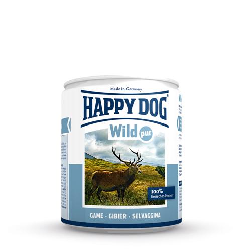 Happy Dog Pur Hundefutter - Dosen - Wild