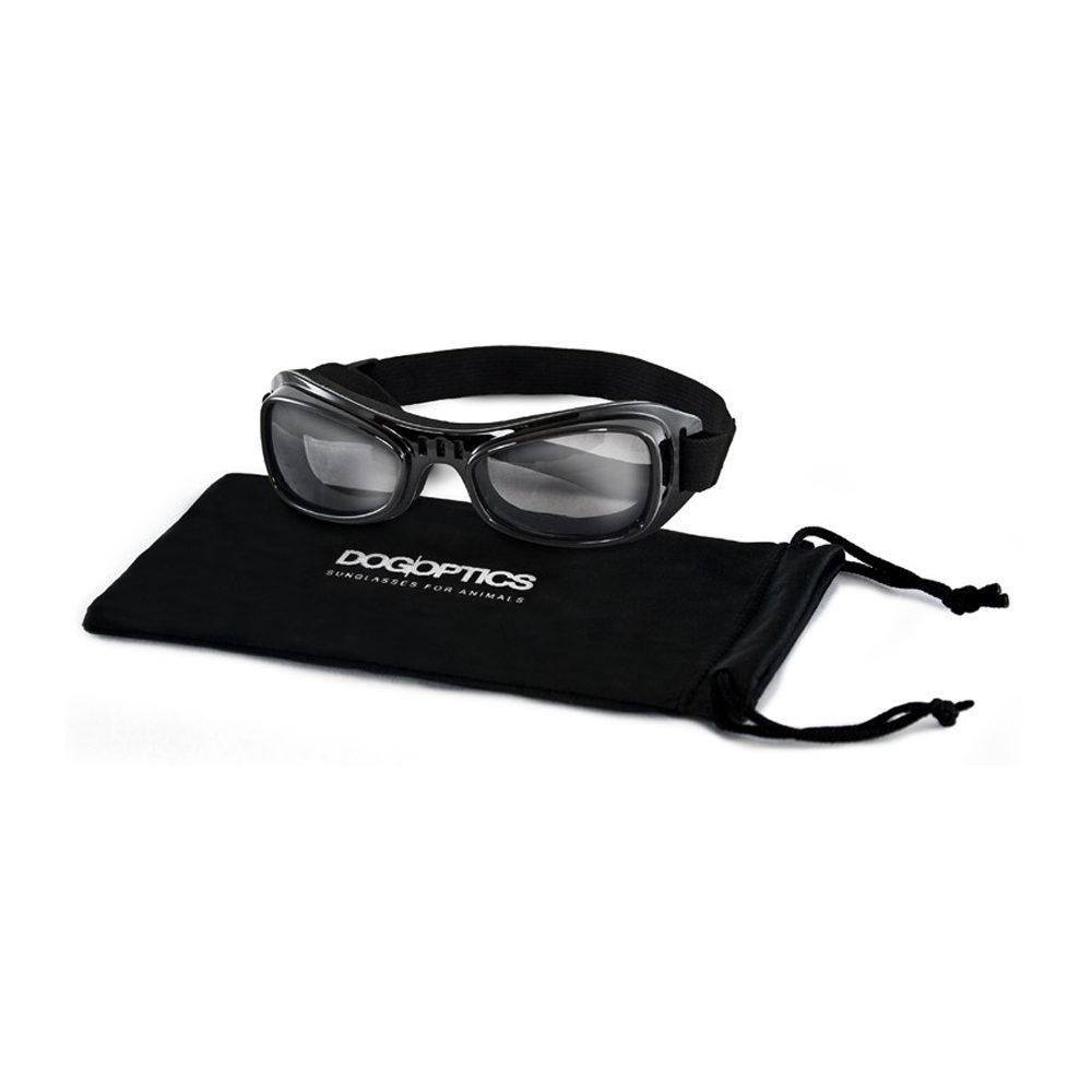 Dogoptics Hundesonnenbrille Biker - Black Frame & Smoke Lens