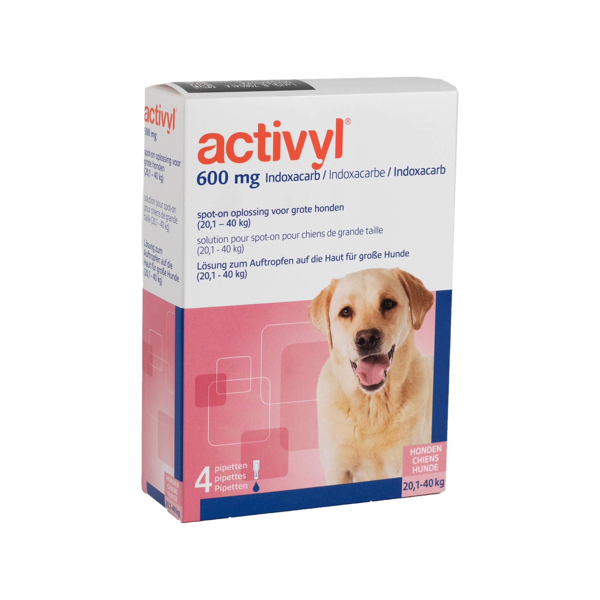 Activyl Spot-on Hund L - 20 - 40 kg - 4 Pipetten