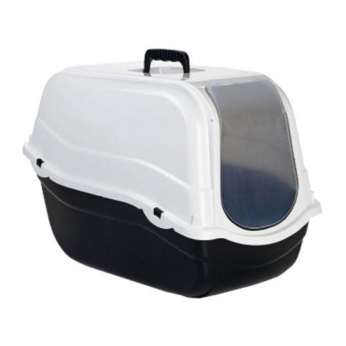 Beeztees - Bac à litière pour chat Romeo - Noir / blanc