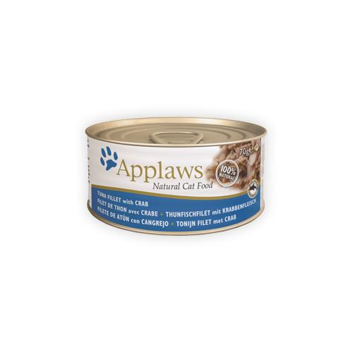 Applaws - Filet de thon et crabe - Boîte - 24 x 70 g