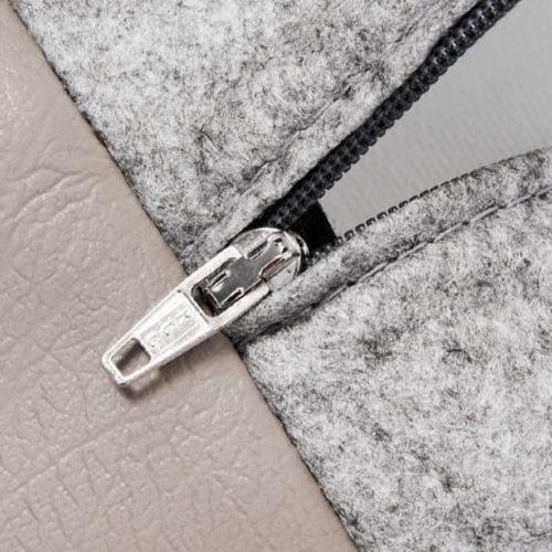 Bia - Couverture en simili - Taupe - 100 x 120 cm