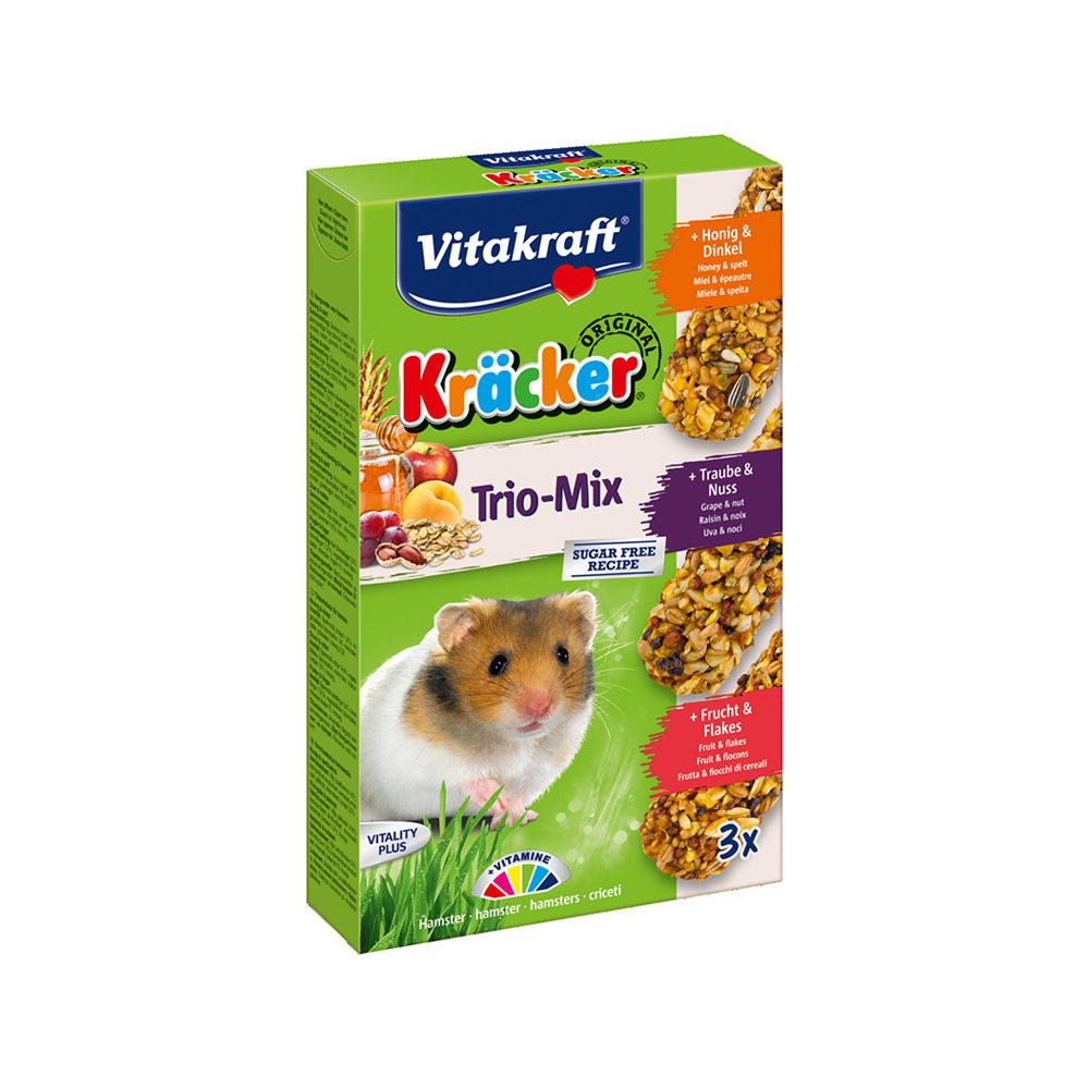Vitakraft Kräcker Trio-Mix - Hamster - Miel, noix et fruits