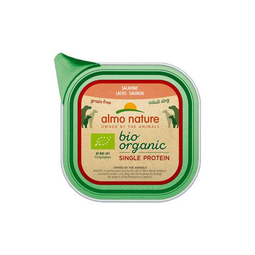 Almo Nature Bio Organic Single Protein - Saumon- Barquette - 11 x 150 g