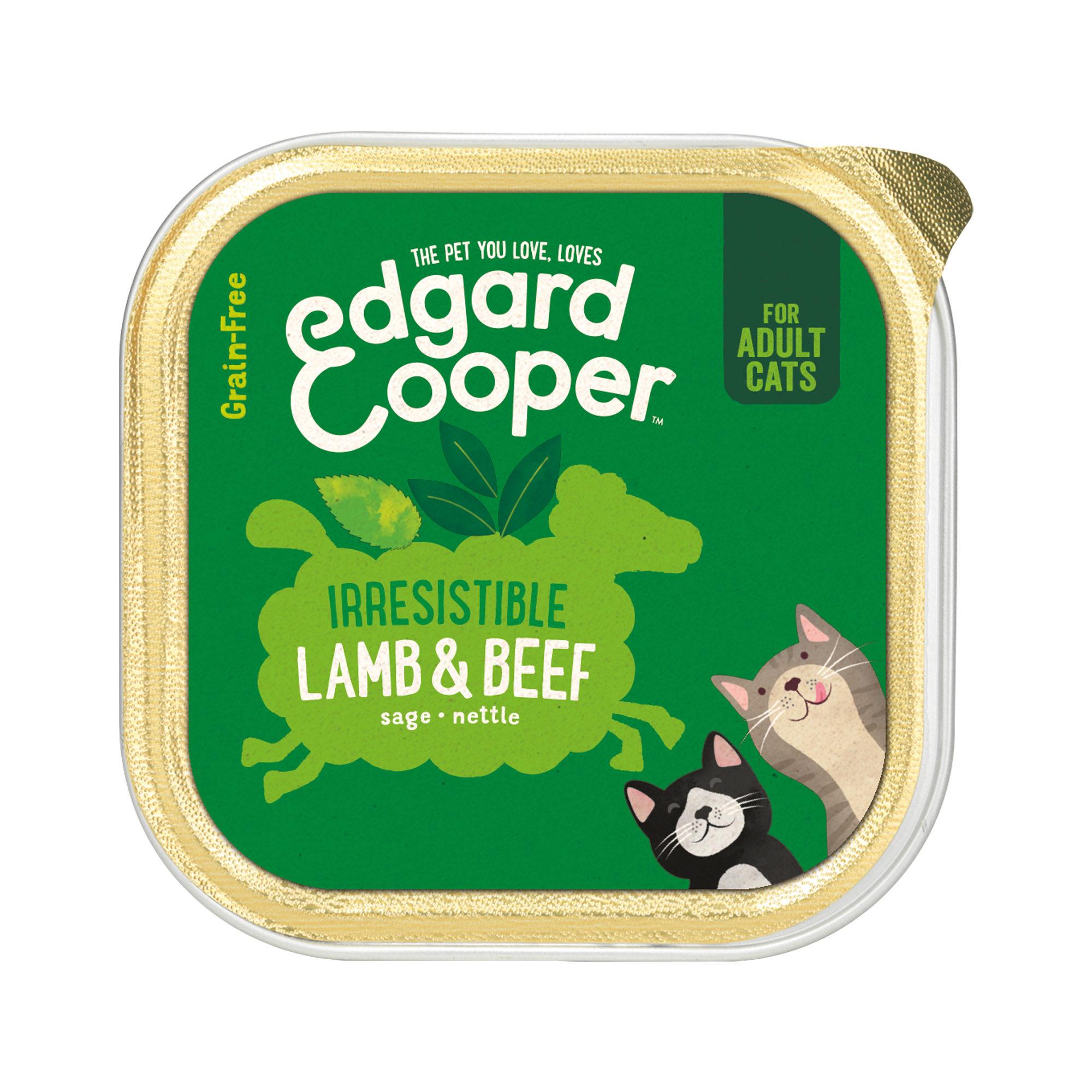 Edgard & Cooper Adult - Barquette - Agneau et Bœuf - Chat