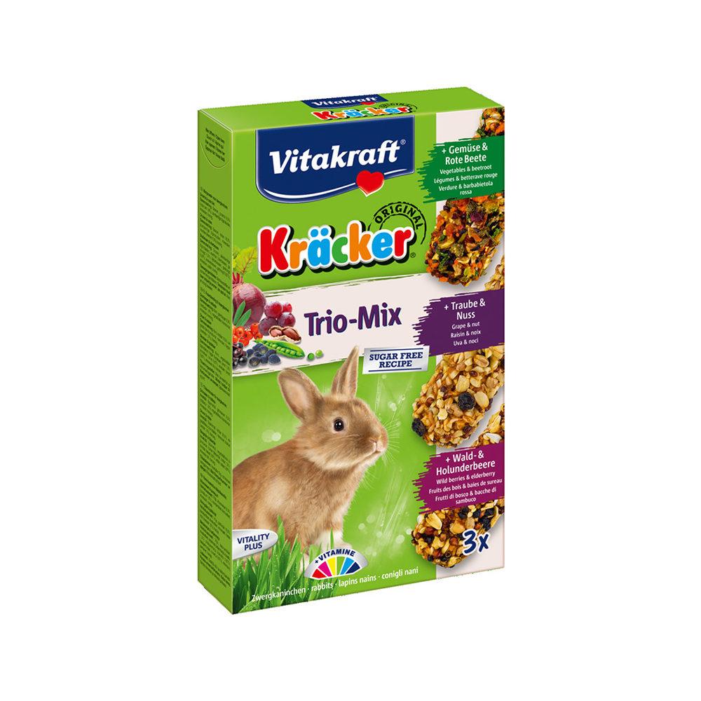Vitakraft Kräcker Trio-Mix Kaninchen - Gemüse, Nüsse & Heidelbeeren