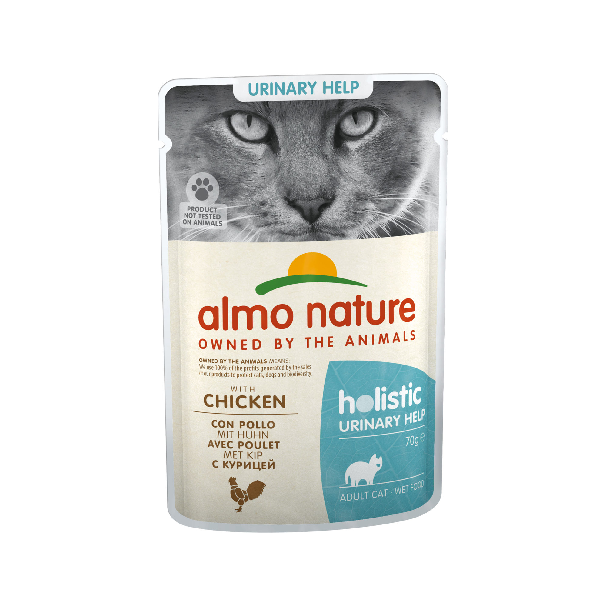 Almo Nature Holistic Urinary Help Katzenfutter - Frischebeutel - Huhn - 20 x 70 g