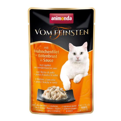 Animonda Vom Feinsten Katzenfutter - Frischebeutel - Hühnchenfilet & Entenbrust - 18 x 50 g