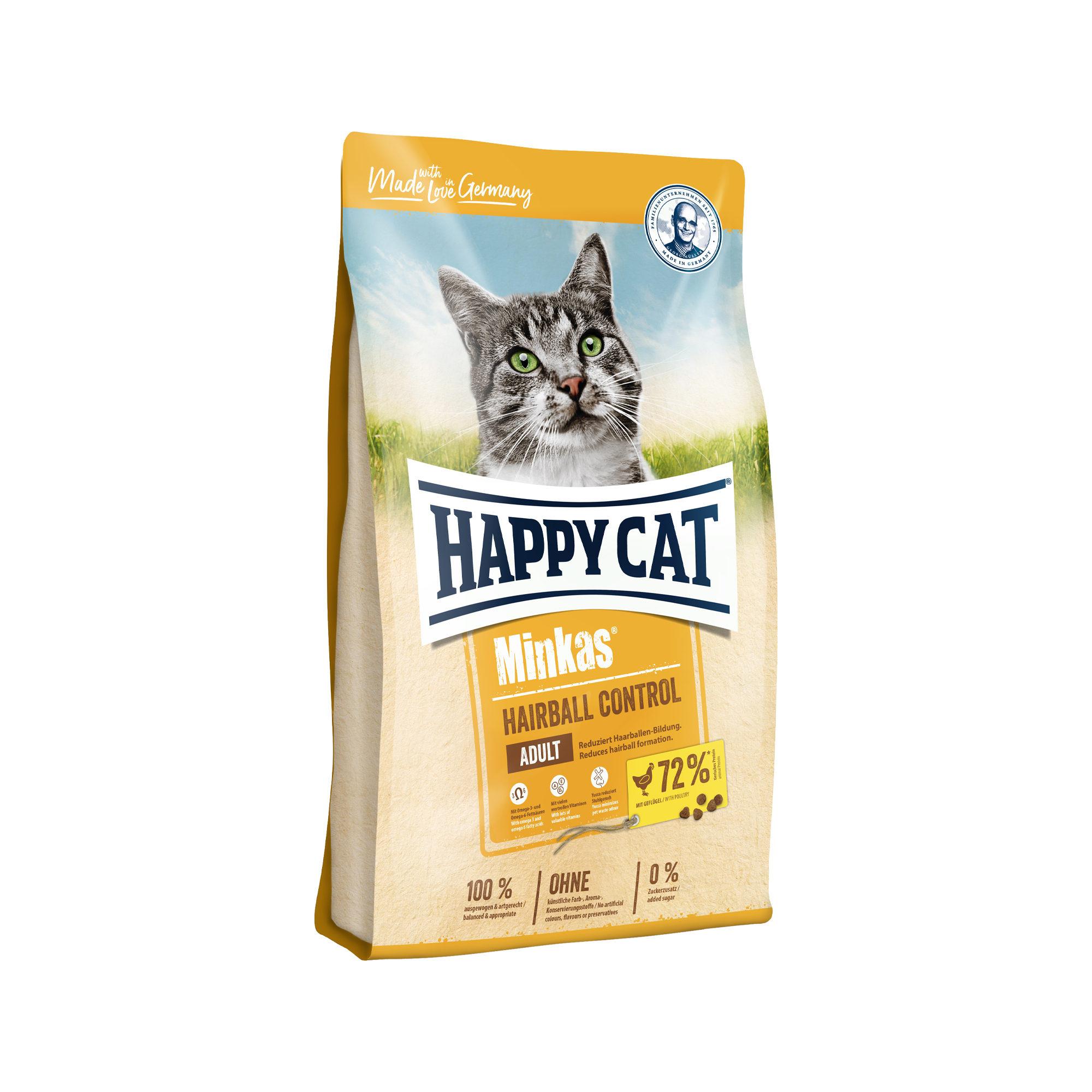 Happy Cat Minkas Adult Hairball Control Katzenfutter - Geflügel