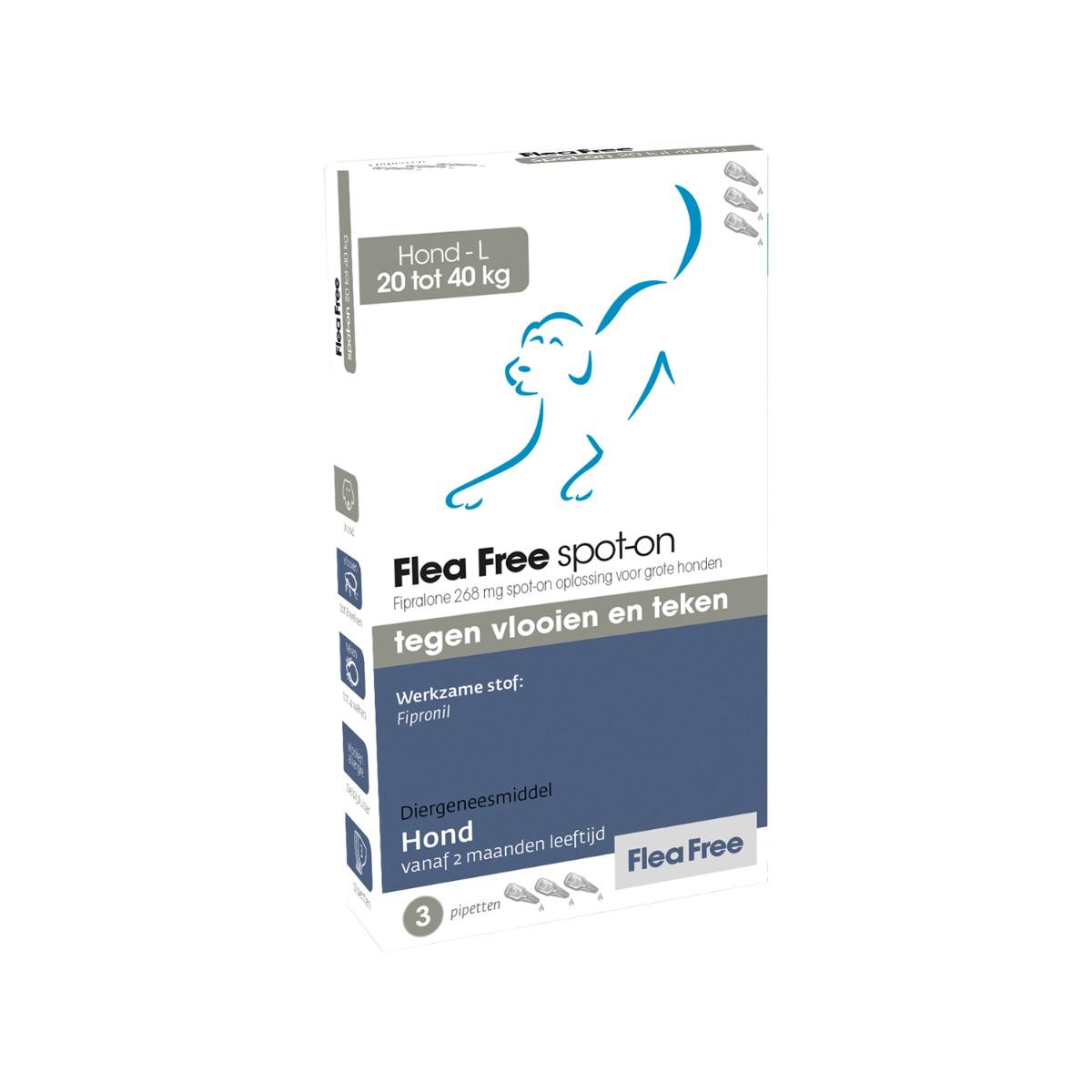 Flea Free Fipralone Spot-on Hund - 20 - 40 kg
