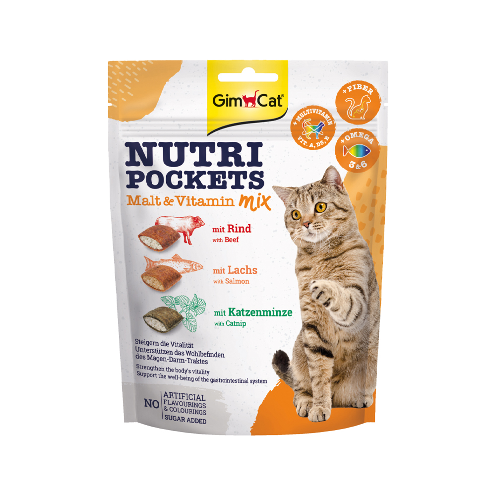 GimCat Nutri Pockets Malt - Vitamin Mix