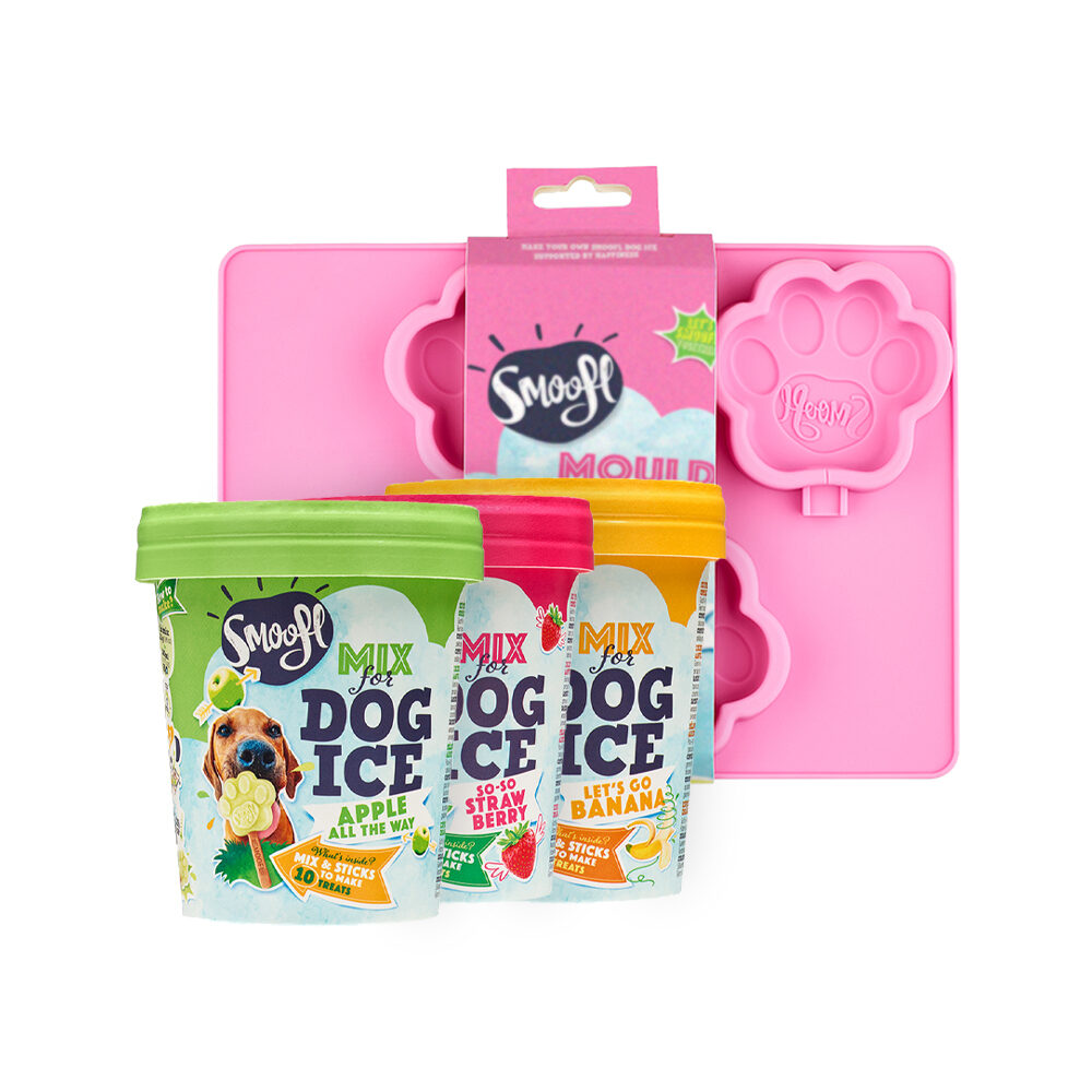 Smoofl Ice Cream Mix for Dogs Value Pack - Medium Mould