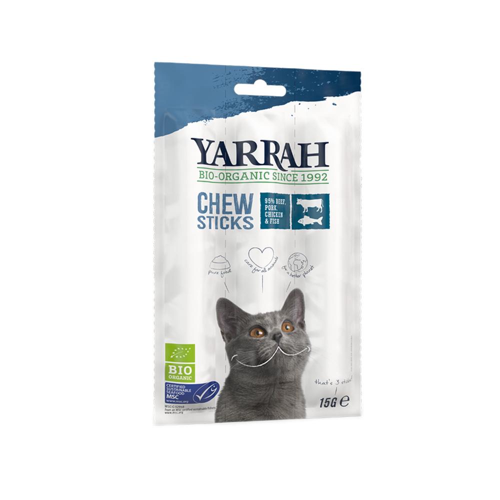 Yarrah Chew Stick Bio Cat - Beef & Fish