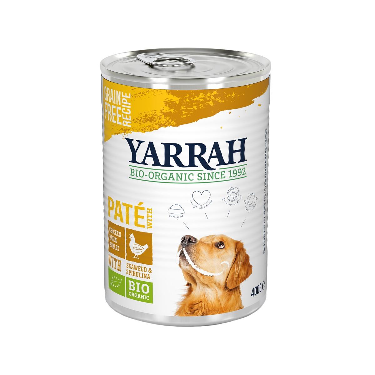 Yarrah Bio Paté - Boîte - Poulet avec spirulina et algue marine - 12 x 150 g